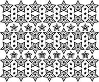 Орнаментальная картина звезд Стоковое Изображение