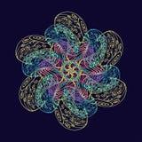 Орнаментальная картина от покрашенных элементов doodle Стоковая Фотография