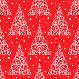 Орнаментальная картина рождественской елки Стоковая Фотография RF