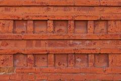 Орнаментальная картина старой кирпичной стены, текстура Стоковая Фотография
