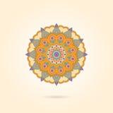 Орнаментальная красочная мандала на бежевой предпосылке Стильное geome иллюстрация вектора