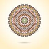 Орнаментальная красочная мандала Стильная геометрическая картина в Востоке бесплатная иллюстрация