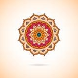 Орнаментальная красочная мандала Стильная геометрическая картина в Востоке Стоковые Фотографии RF