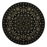 Орнаментальная круглая картина в индийском стиле Стоковая Фотография RF