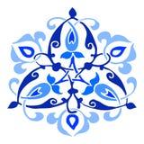 Орнаментальная круглая картина силуэта цветка 13 Стоковое Изображение