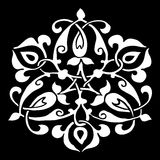 Орнаментальная круглая картина силуэта цветка 10 Стоковая Фотография
