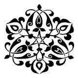 Орнаментальная круглая картина силуэта цветка 9 Стоковые Изображения