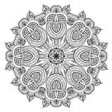 Орнаментальная круглая картина шнурка как мандала Стоковое Фото