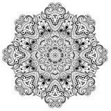 Орнаментальная круглая картина шнурка как mandala_1 иллюстрация вектора