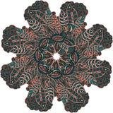 Орнаментальная круглая картина шнурка Стоковые Изображения RF