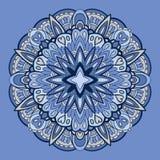 Орнаментальная круглая картина шнурка Стоковая Фотография