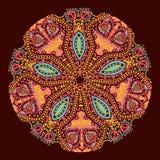 Орнаментальная круглая картина шнурка иллюстрация вектора