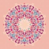 Орнаментальная круглая флористическая картина шнурка. Стоковое Изображение