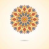 Орнаментальная мандала в бежевом цвете иллюстрация штока