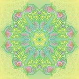 Орнаментальная мандала круга Стоковая Фотография