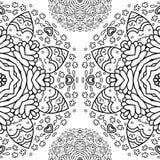 Орнаментальная половинная круглая картина шнурка, предпосылка круга, вязать крючком крючком handmade шнурок, кружевная арабеска к Стоковое фото RF
