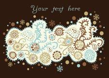 Орнаментальная предпосылка рождества, снежности иллюстрация штока