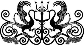 Орнаментальная птица Стоковая Фотография RF