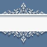 Орнаментальная рамка с свирлями бумаги выреза Стоковая Фотография RF