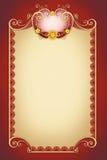 Орнаментальная свирль для поздравительной открытки Стоковые Изображения RF