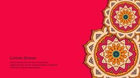 Орнаментальная флористическая визитная карточка иллюстрация штока