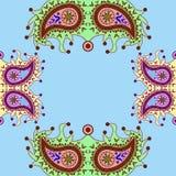 Орнаментальная флористическая картина Пейсли Стоковое Изображение