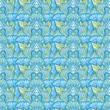 Орнаментальная флористическая картина tiling Стоковое фото RF