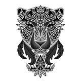 Орнаментальная черная пантера Стоковая Фотография