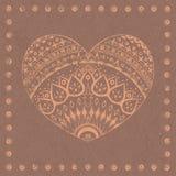 Орнаментальное сердце Стоковая Фотография