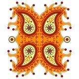Орнаментальное флористическое Пейсли Стоковая Фотография