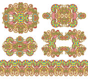Орнаментальное флористическое украшение 5 Стоковые Изображения RF