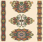 Орнаментальное флористическое украшение Стоковые Изображения RF