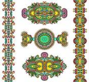 Орнаментальное флористическое украшение Стоковое Изображение