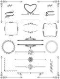 Орнаментальные викторианские рамки и линии правила вектор Стоковое Фото