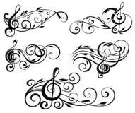 Орнаментальные примечания музыки иллюстрация вектора