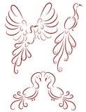 Орнаментальные птицы иллюстрация штока