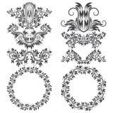 Орнаментальные элементы и сделанный по образцу вокруг рамок для дизайна Стоковые Фотографии RF