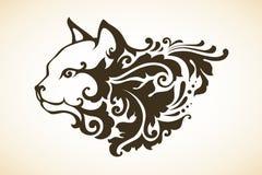 Орнаментальный декоративный кот Стоковая Фотография RF