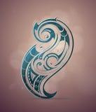 Орнаментальный дизайн свирлей Стоковые Фото