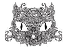Орнаментальный кот doodle Стоковое Фото