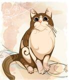 Орнаментальный кот Zentangle Стоковая Фотография RF