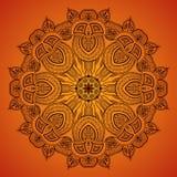 Орнаментальный круглый шнурок pattern_1 иллюстрация вектора
