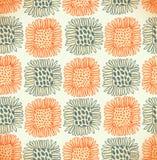 Орнаментальный милый безшовный цветочный узор Decorativ Стоковые Изображения