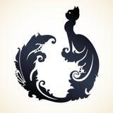 Орнаментальный орнаментальный кот Стоковое Изображение