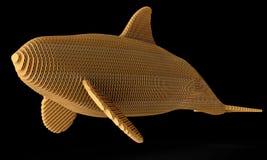 Орнаментальный структурный дизайн кита иллюстрация 3d Иллюстрация штока