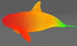 Орнаментальный структурный дизайн кита иллюстрация 3d Бесплатная Иллюстрация