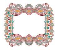 Орнаментальный флористический винтажный дизайн рамки Стоковая Фотография