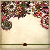 Орнаментальный цветочный узор с местом для вашего текста Стоковая Фотография RF