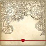 Орнаментальный цветочный узор с местом для вашего текста Стоковое Изображение RF