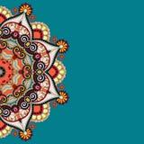 Орнаментальный шаблон с предпосылкой круга флористической Стоковые Изображения